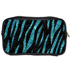 Skin3 Black Marble & Blue Green Water Toiletries Bag (two Sides) by trendistuff