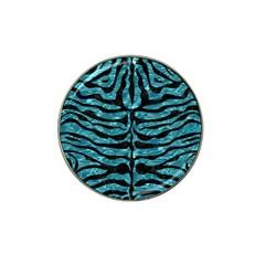 Skin2 Black Marble & Blue Green Water (r) Hat Clip Ball Marker (10 Pack) by trendistuff