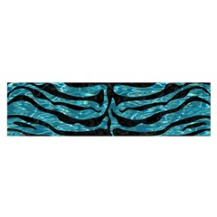 Skin2 Black Marble & Blue Green Water (r) Satin Scarf (oblong) by trendistuff