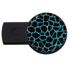 Skin1 Black Marble & Blue Green Water (r) Usb Flash Drive Round (2 Gb) by trendistuff