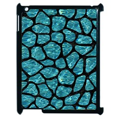 Skin1 Black Marble & Blue Green Water Apple Ipad 2 Case (black) by trendistuff