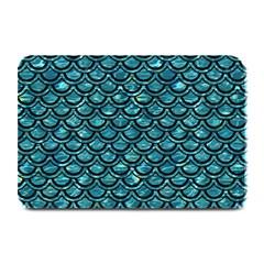 Scales2 Black Marble & Blue Green Water (r) Plate Mat by trendistuff