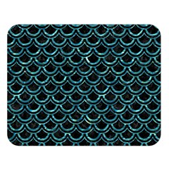 Scales2 Black Marble & Blue Green Water Double Sided Flano Blanket (large) by trendistuff