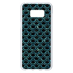 Scales2 Black Marble & Blue Green Water Samsung Galaxy S8 Plus White Seamless Case by trendistuff