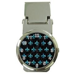 Royal1 Black Marble & Blue Green Water (r) Money Clip Watch by trendistuff
