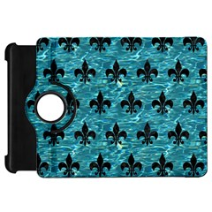 Royal1 Black Marble & Blue Green Water Kindle Fire Hd Flip 360 Case by trendistuff