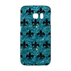 Royal1 Black Marble & Blue Green Water Samsung Galaxy S6 Edge Hardshell Case by trendistuff