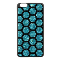 Hexagon2 Black Marble & Blue Green Water (r) Apple Iphone 6 Plus/6s Plus Black Enamel Case by trendistuff