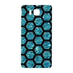 Hexagon2 Black Marble & Blue Green Water (r) Samsung Galaxy Alpha Hardshell Back Case by trendistuff