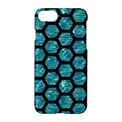 Hexagon2 Black Marble & Blue Green Water (r) Apple Iphone 7 Hardshell Case by trendistuff