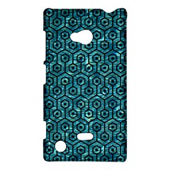 Hexagon1 Black Marble & Blue Green Water (r) Nokia Lumia 720 Hardshell Case by trendistuff