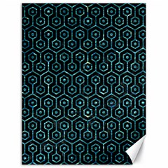 Hexagon1 Black Marble & Blue Green Water Canvas 18  X 24  by trendistuff