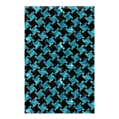 Houndstooth2 Black Marble & Blue Green Water Shower Curtain 48  X 72  (small) by trendistuff