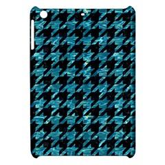 Houndstooth1 Black Marble & Blue Green Water Apple Ipad Mini Hardshell Case by trendistuff