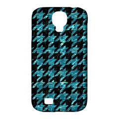 Houndstooth1 Black Marble & Blue Green Water Samsung Galaxy S4 Classic Hardshell Case (pc+silicone) by trendistuff
