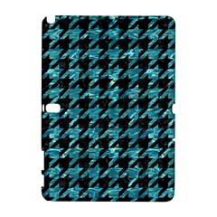 Houndstooth1 Black Marble & Blue Green Water Samsung Galaxy Note 10 1 (p600) Hardshell Case by trendistuff
