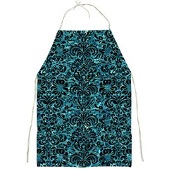 Damask2 Black Marble & Blue Green Water (r) Full Print Apron by trendistuff
