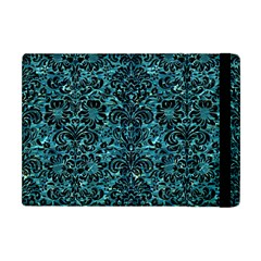 Damask2 Black Marble & Blue Green Water (r) Apple Ipad Mini Flip Case by trendistuff