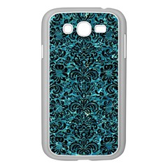 Damask2 Black Marble & Blue Green Water (r) Samsung Galaxy Grand Duos I9082 Case (white) by trendistuff