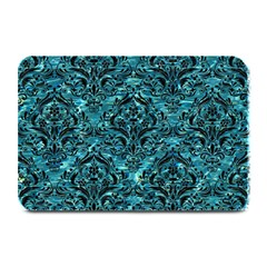 Damask1 Black Marble & Blue Green Water (r) Plate Mat by trendistuff