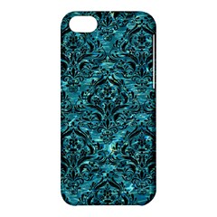 Damask1 Black Marble & Blue Green Water (r) Apple Iphone 5c Hardshell Case by trendistuff