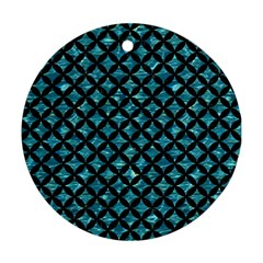 Circles3 Black Marble & Blue Green Water (r) Round Ornament (two Sides) by trendistuff