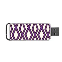 Diamond Key Stripe Purple Chevron Portable Usb Flash (one Side) by Mariart