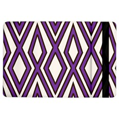 Diamond Key Stripe Purple Chevron Ipad Air 2 Flip by Mariart