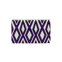 Diamond Key Stripe Purple Chevron Cosmetic Bag (xs) by Mariart