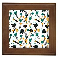 Flowers Duck Legs Line Framed Tiles by Mariart