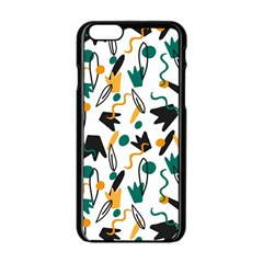 Flowers Duck Legs Line Apple Iphone 6/6s Black Enamel Case by Mariart