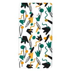 Flowers Duck Legs Line Galaxy Note 4 Back Case by Mariart