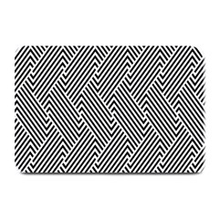 Escher Striped Black And White Plain Vinyl Plate Mats by Mariart