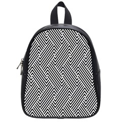 Escher Striped Black And White Plain Vinyl School Bags (small)  by Mariart