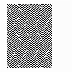 Escher Striped Black And White Plain Vinyl Small Garden Flag (two Sides) by Mariart