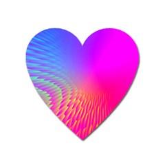 Light Aurora Pink Purple Gold Heart Magnet by Mariart