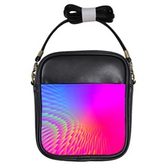 Light Aurora Pink Purple Gold Girls Sling Bags by Mariart