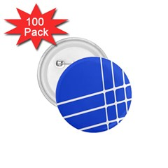 Line Stripes Blue 1 75  Buttons (100 Pack)  by Mariart