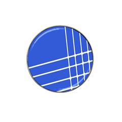 Line Stripes Blue Hat Clip Ball Marker by Mariart