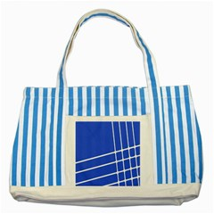 Line Stripes Blue Striped Blue Tote Bag by Mariart