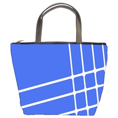 Line Stripes Blue Bucket Bags by Mariart