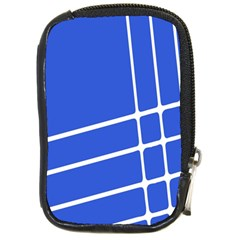 Line Stripes Blue Compact Camera Cases by Mariart