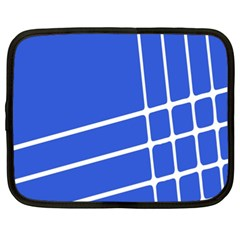 Line Stripes Blue Netbook Case (xl)  by Mariart