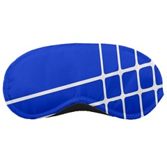 Line Stripes Blue Sleeping Masks by Mariart