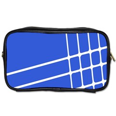Line Stripes Blue Toiletries Bags 2 Side by Mariart