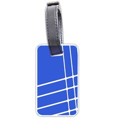 Line Stripes Blue Luggage Tags (one Side)  by Mariart