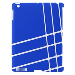 Line Stripes Blue Apple Ipad 3/4 Hardshell Case (compatible With Smart Cover) by Mariart