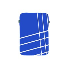Line Stripes Blue Apple Ipad Mini Protective Soft Cases by Mariart