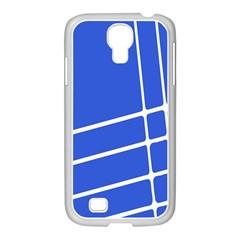 Line Stripes Blue Samsung Galaxy S4 I9500/ I9505 Case (white) by Mariart