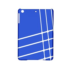 Line Stripes Blue Ipad Mini 2 Hardshell Cases by Mariart